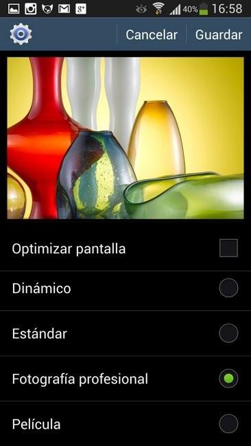 modos pantalla Galaxy S4
