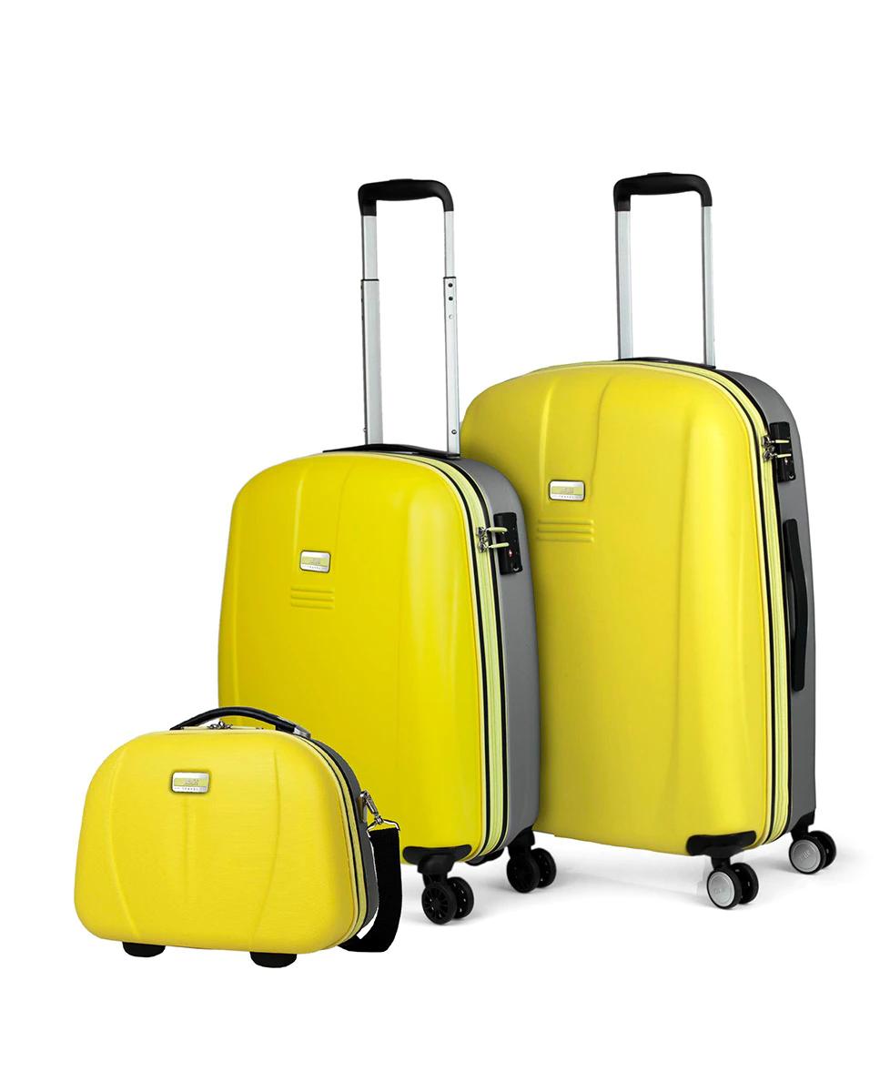 Juego de maletas (Cabina y Mediana) más neceser Jaslen Bucarest con capacidad 70L