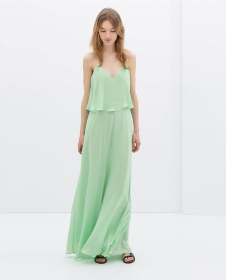 Zara verde pastel vestidos primavera 2014
