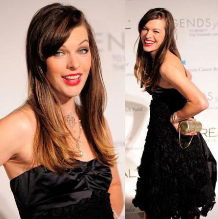 El look de Milla Jovovich en la gala benéfica de L'Oreal
