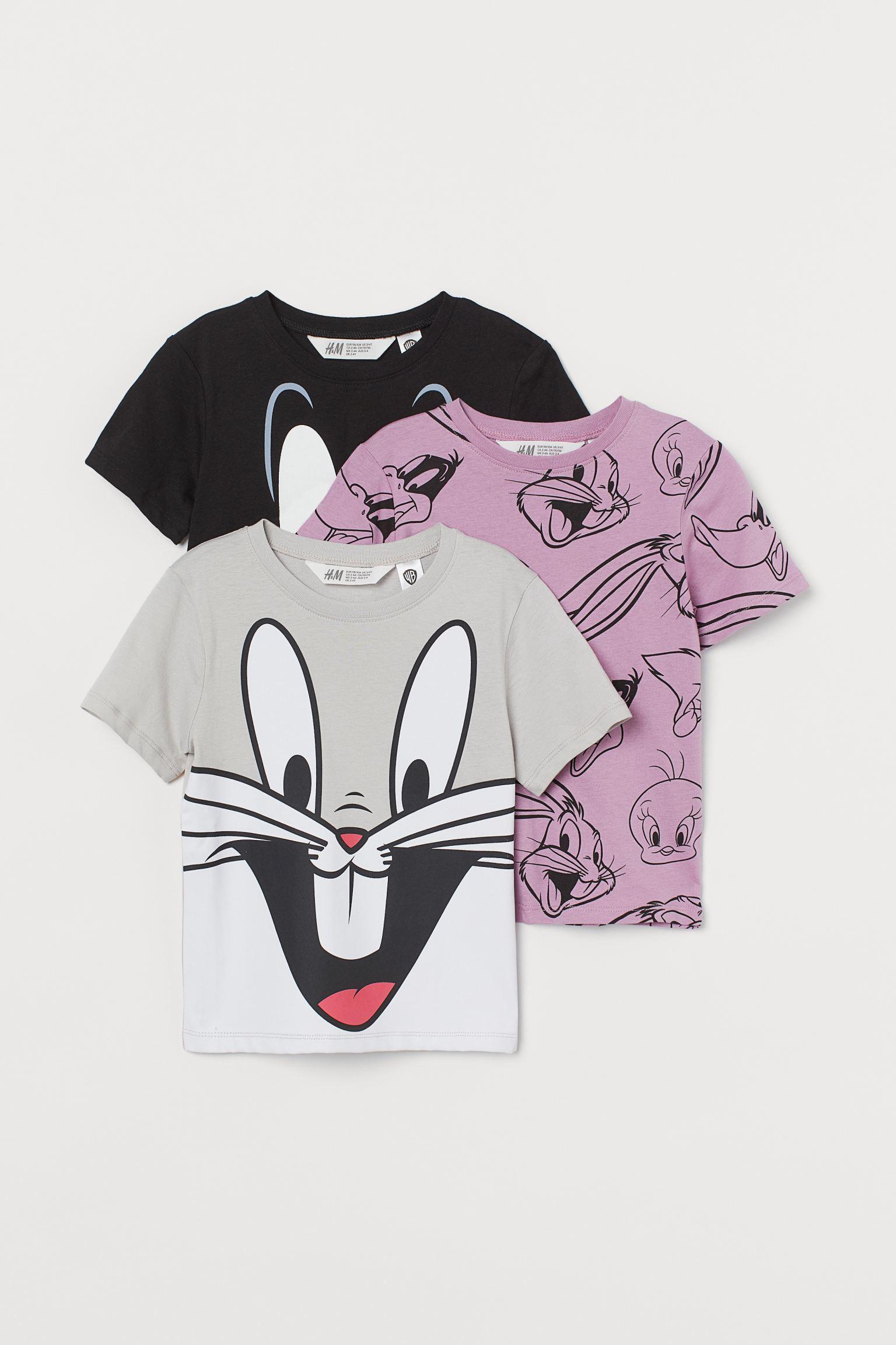 Pack 3 camisetas con estampado