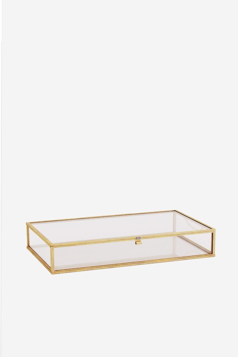 Caja grande de vidrio