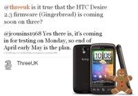 HTC Desire recibirá Android 2.3 Gingerbread a finales de Abril o principios de Mayo