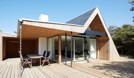 Una casa nórdica de madera
