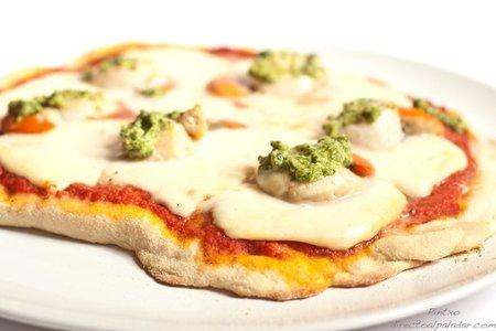 Pizza de vieiras y Arzúa Ulloa. Receta
