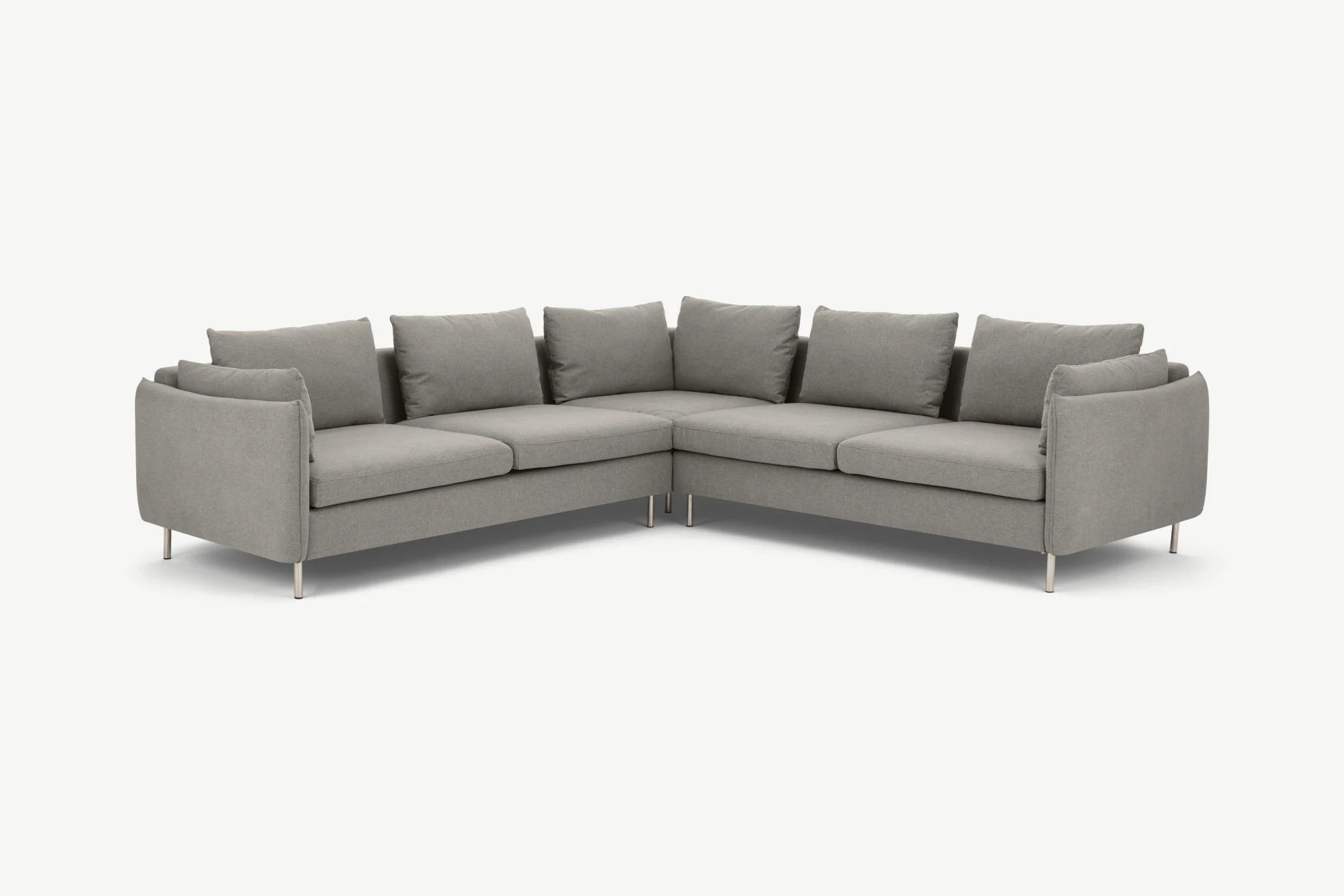 Vento 5 Seater Corner Sofa, Manhattan Grey