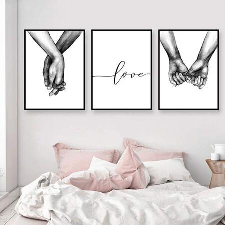 Láminas decorativas en blanco y negro