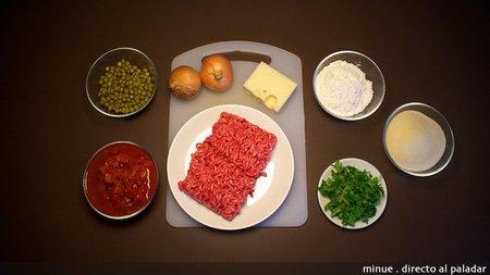 Albóndigas rellenas de queso - ingredientes