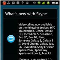 Skype 2.1 para Android, vídeo llamadas para más dispositivos