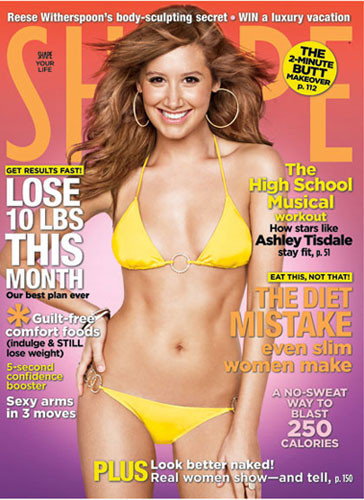 Ashley Tisdale posa en bikini para la revista Shape