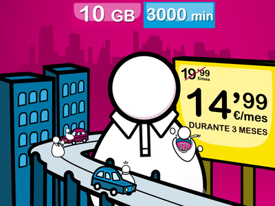 SUOP se hace grande con nueva tarifa de 10 GB y 3.000 minutos promocionada a 14,99 euros