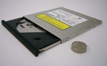 Lectora de DVD de Panasonic: 7 milímetros de anchura