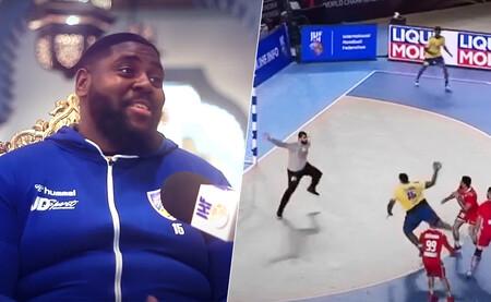 Gauthier Mvumbi, el jugador congoleño de 137 kilos que está arrasando en el Mundial de Balonmano