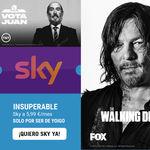 Yoigo rebaja Sky TV a 5,99 euros para todos sus clientes y para siempre, si activas antes de abril