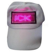 Gorra con pantalla de LEDs