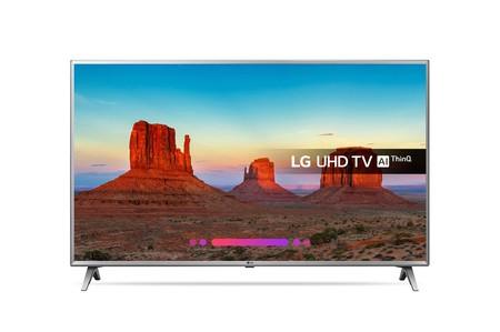 Smart TV LG 50UK6500 de 50 pulgadas, con resolución 4K, por 488,99 euros y envío gratis