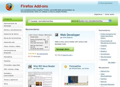 Firefox Add-ons rediseñado