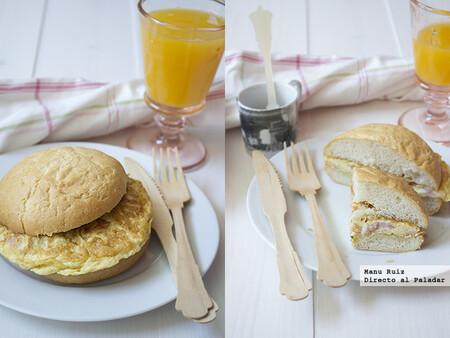 Tortilla de tomate, queso y jamón, receta fácil, rápida y sabrosa para un desayuno sin prisas