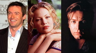 Michelle Williams hace trío con Hugh Jackman y Ewan McGregor