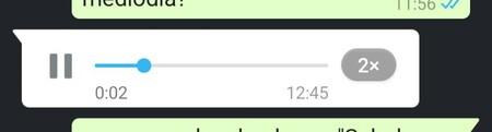 Notas de voz de WhatsApp a distintas velocidades