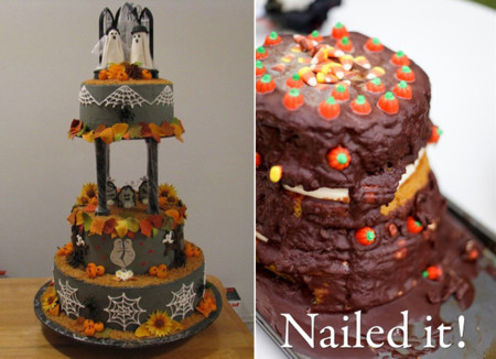 Pinterest Fail Halloween Wedding Cake Storyboarded
