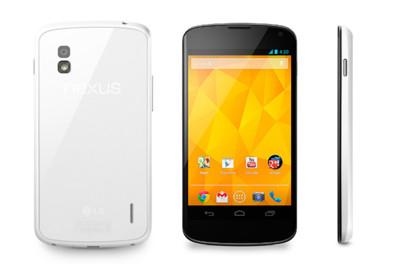 Ya es oficial: LG Nexus 4 en blanco, mismo teléfono y distinto color