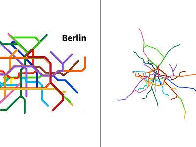 Mapas honestos: así serían los planos de metro de 17 grandes ciudades si fueran fieles a la geografía