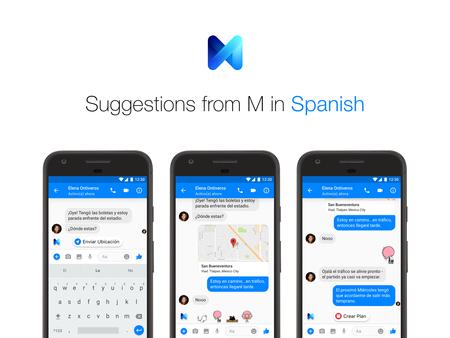 M, el asistente inteligente de Facebook, ya habla español y por fin llega a México