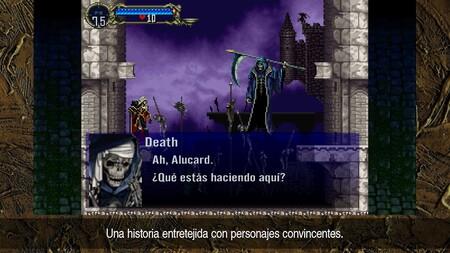 Castlevania: Synphony of the Night tiene textos en español