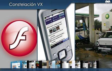 Flash Player 64 bits para Mac OS X, el teléfono de Facebook y el bestiajo que estampó un Porsche en una gasolinera. Constelación VX (XXIII)