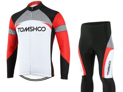 Oferta Flash en Amazon: conjunto de chaqueta y mallas de ciclismo Tomshoo desde 24,74 euros