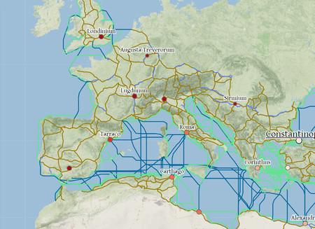 Antigua Roma en el proyecto ORBIS