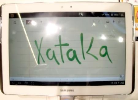 Samsung Galaxy Note 10.1 en vídeo