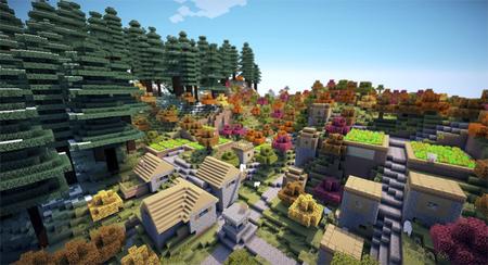 Un 'Minecraft' con texturas mejoradas, agua realista y efectos de luces también es posible