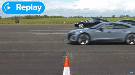 Carrera Aceleracion Audi Porsche Y Tesla