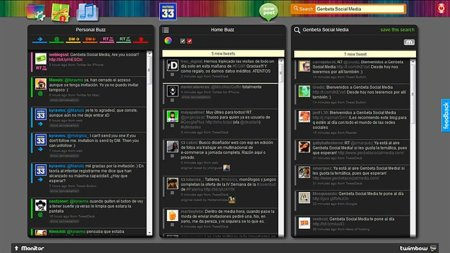 Twimbow, un cliente web para Twitter muy colorido pero con aspectos que mejorar