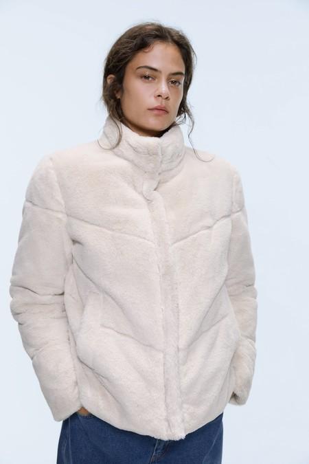 Zara Abrigo Peluche Otono 2019 18