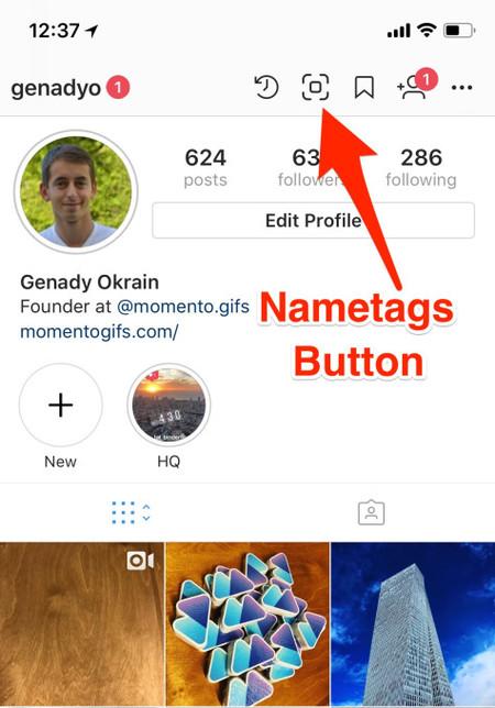 Instagram Nametags Profile