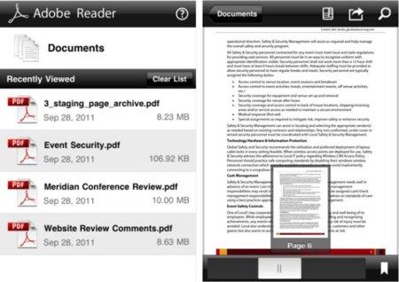 Adobe Reader: el lector oficial de archivos PDF llega a iOS