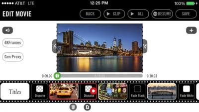 Esta aplicación promete grabar video en 4K en un iPhone 5s, claro, si tienes 999 dólares