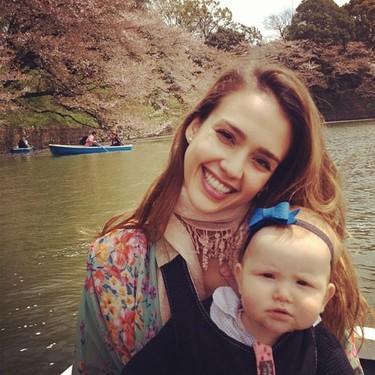 Jessica Alba y su excursión familiar a Japón