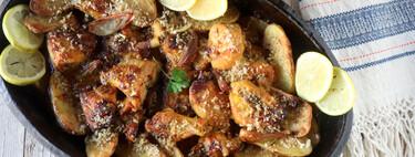 Pollo asado con patatas a la mantequilla negra: una receta para repetir