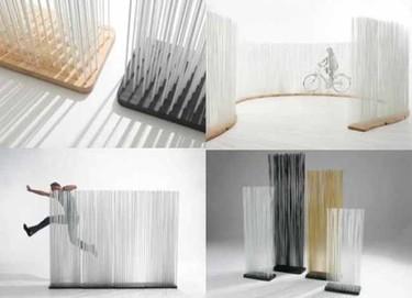 Sticks, un divisor de espacios con finas varillas