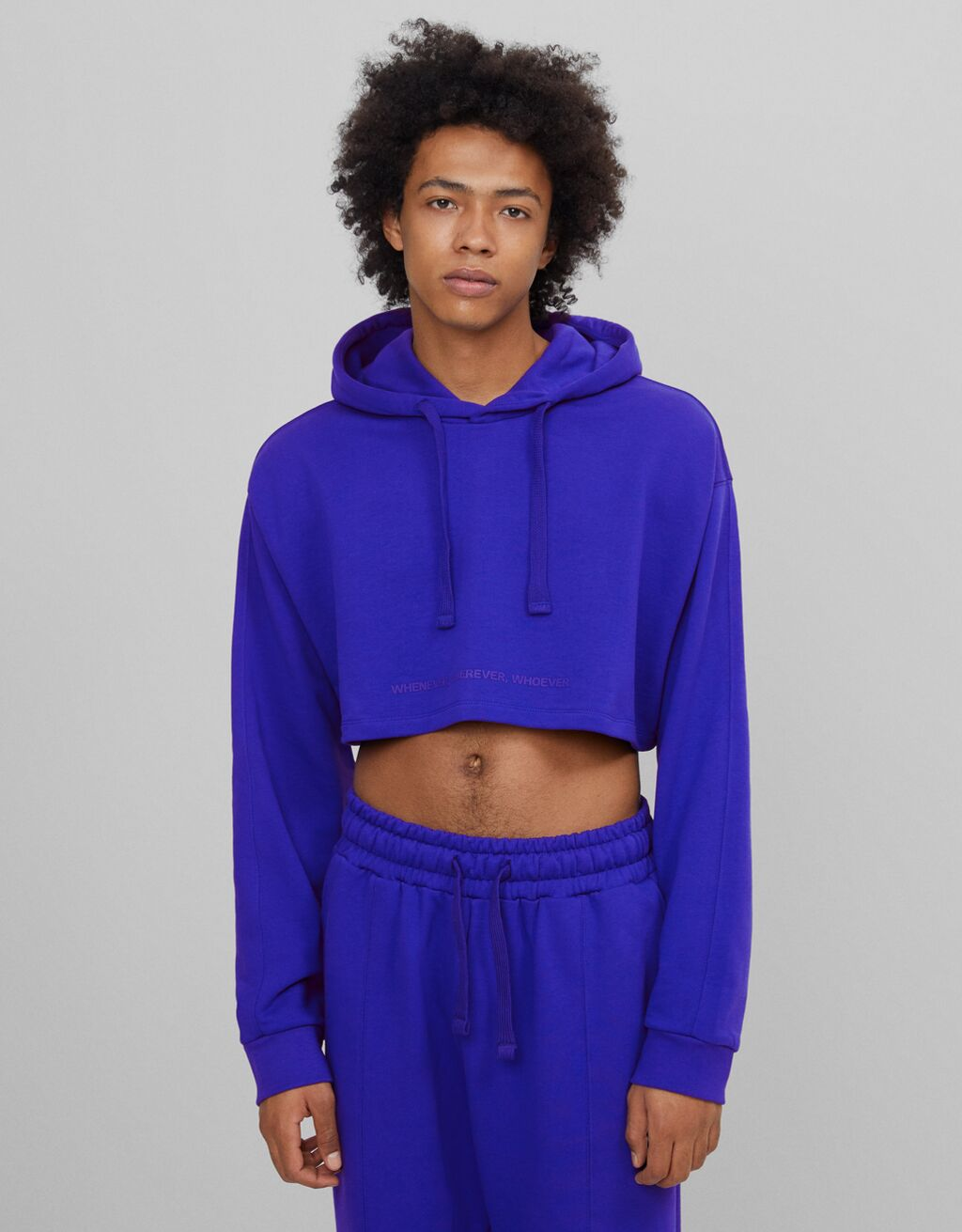 Sudadera cropped B3 Project color azul