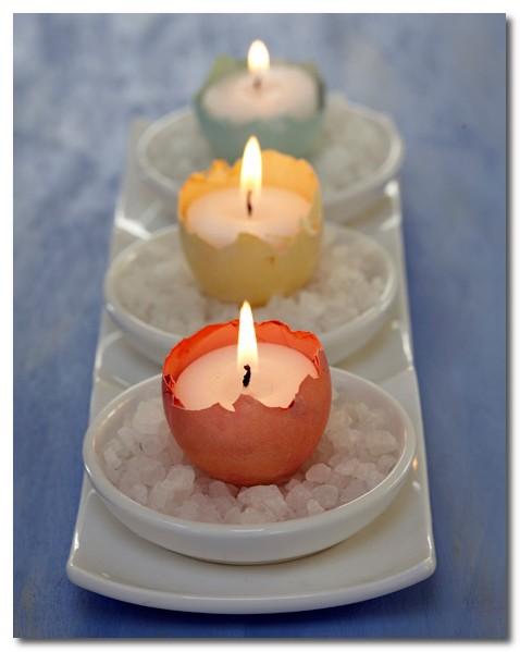 Una buena idea utiliza c scaras de huevo como soporte de velas - Soportes para velas ...
