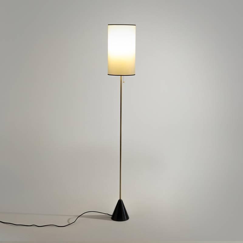 Lámpara de pie de mármol y metal Sophonie