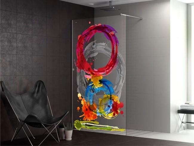 Duscho art m s ideas para personalizar tu mampara - Vinilos para duchas ...
