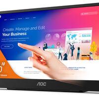 AOC presenta su nuevo monitor portátil 16T2, un modelo con pantalla táctil IPS de 15,6 pulgadas que además puede cargar tu móvil