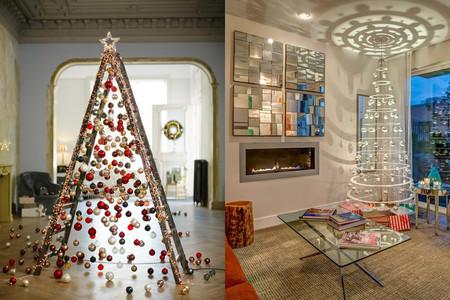 Ideas De Dibujos Para Navidad.17 Ideas Para Colocar Un Arbol De Navidad Totalmente Fuera