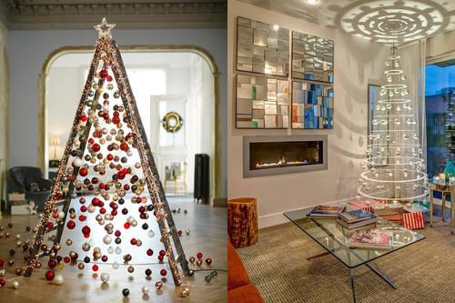 17 ideas para colocar un árbol de Navidad totalmente fuera de lo común